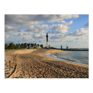 Playa del punto del faro tarjeta postal