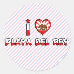 Playa del Rey, CA Pegatinas Redondas