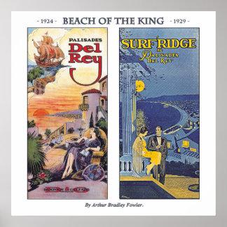 Playa del rey del cazador de aves de Arturo Bradle Posters