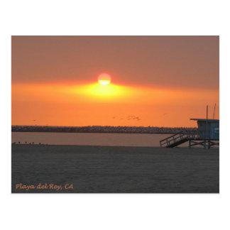 Playa del Rey Sunset - Mike Izzo Postcard