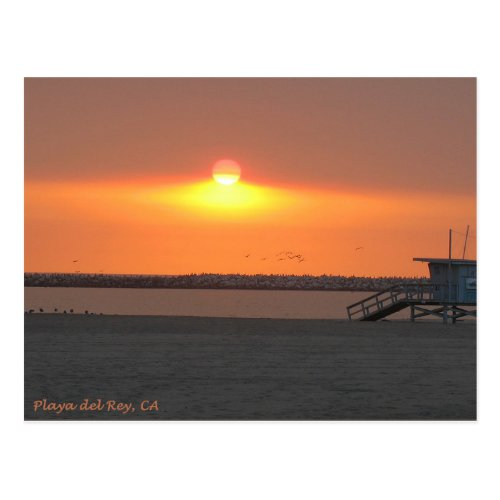Playa del Rey Sunset _ Mike Izzo Postcard