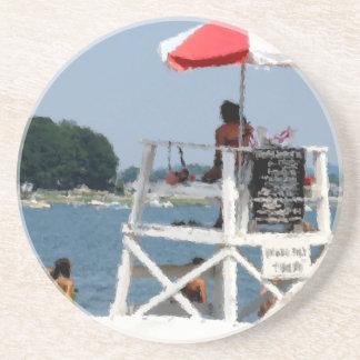 Playa del salvavidas posavasos personalizados