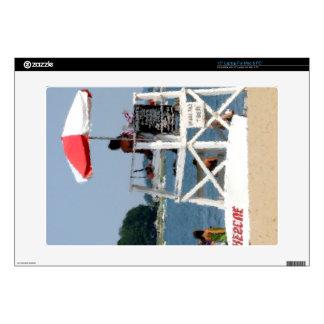 Playa del salvavidas skins para 38,1cm portátiles
