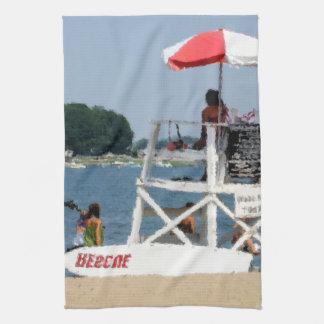 Playa del salvavidas toalla de cocina