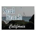 Playa del sello, California Tarjeton