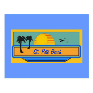 Playa del St. Pete, la Florida Tarjetas Postales
