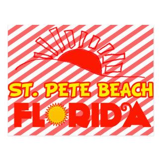 Playa del St. Pete, la Florida Tarjeta Postal