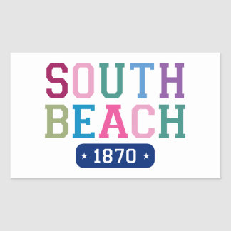 Playa del sur 1870 rectangular pegatina