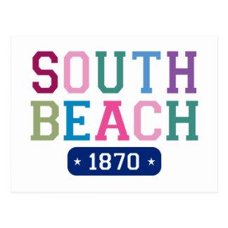 Playa del sur 1870 postal