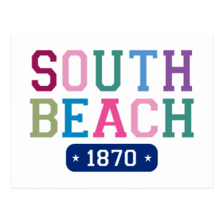 Playa del sur 1870 tarjetas postales