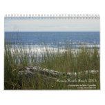Playa del sur 2013 escénico calendario de pared