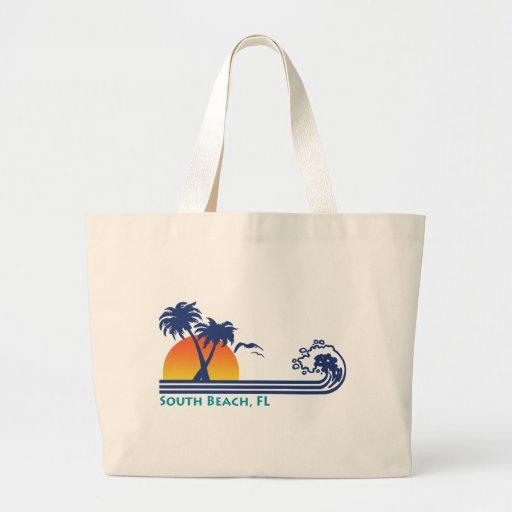 Playa del sur bolsa lienzo