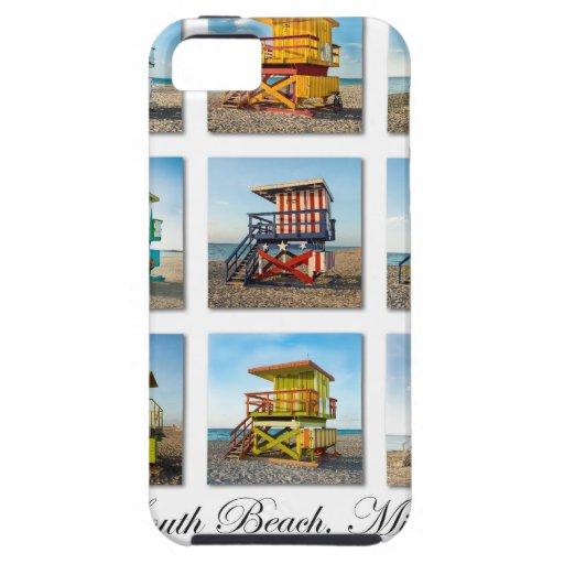 Playa del sur, cabañas del guardia de vida de iPhone 5 carcasas
