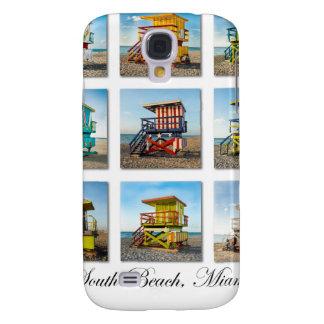 Playa del sur, cabañas del guardia de vida de Miam