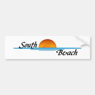 Playa del sur pegatina de parachoque