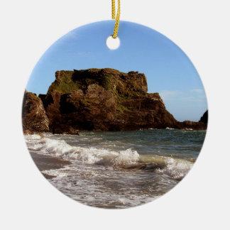 Playa del sur de Devon Westcomb Adorno Navideño Redondo De Cerámica