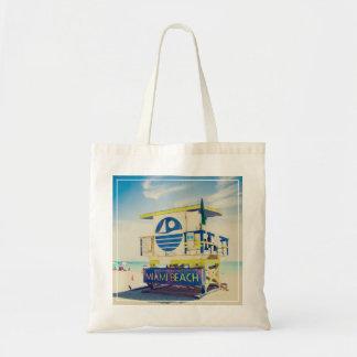 Playa del sur de la torre el   del salvavidas, bolsa tela barata