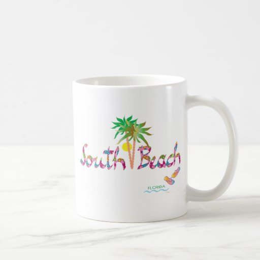 Playa del sur feliz, FL Taza Clásica