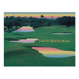 Playa del sur - GOLF de Miami Tarjeta Postal