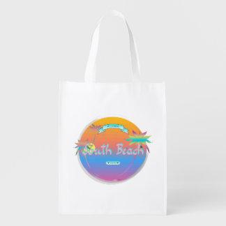 Playa del sur, la Florida con las palmas Bolsa De La Compra