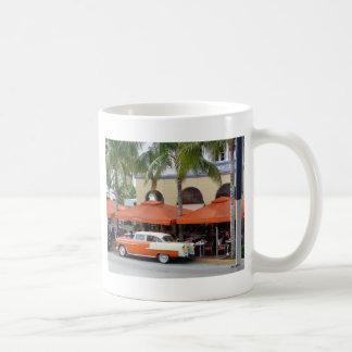 Playa del sur la Florida del coche del vintage Taza De Café