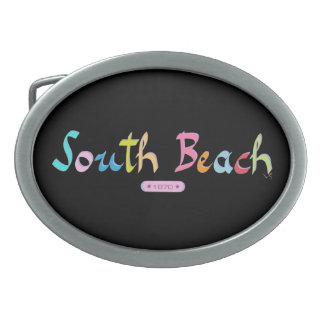 Playa del sur, Miami FL Hebilla Cinturón Oval