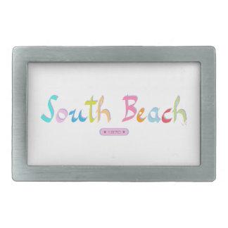 Playa del sur, Miami FL Hebillas Cinturón Rectangulares