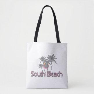 Playa del sur Miami, FL, tropical, fresco Bolsa De Tela