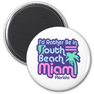 Playa del sur Miami Imán Redondo 5 Cm