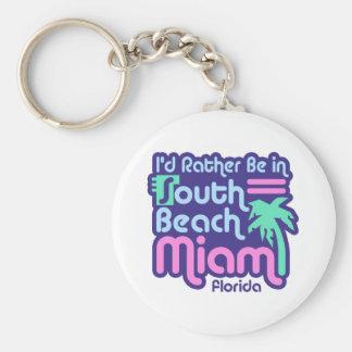 Playa del sur Miami Llavero Redondo Tipo Pin