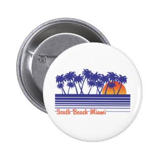 Playa del sur Miami Pin Redondo 5 Cm