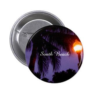 Playa del sur Miami Pin Redondo De 2 Pulgadas