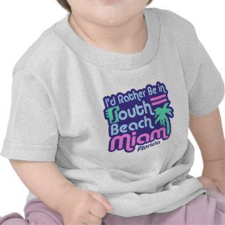 Playa del sur Miami Camiseta