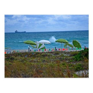 Playa del sur Miami. Sobrecarga del Cheerfulness Tarjeta Postal