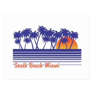 Playa del sur Miami Tarjeta Postal