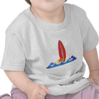 Playa del tablero de resaca camisetas