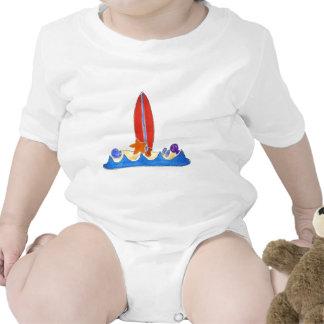 Playa del tablero de resaca traje de bebé