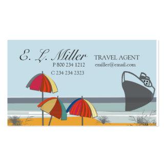 Playa del verano de las vacaciones del agente de tarjetas de visita