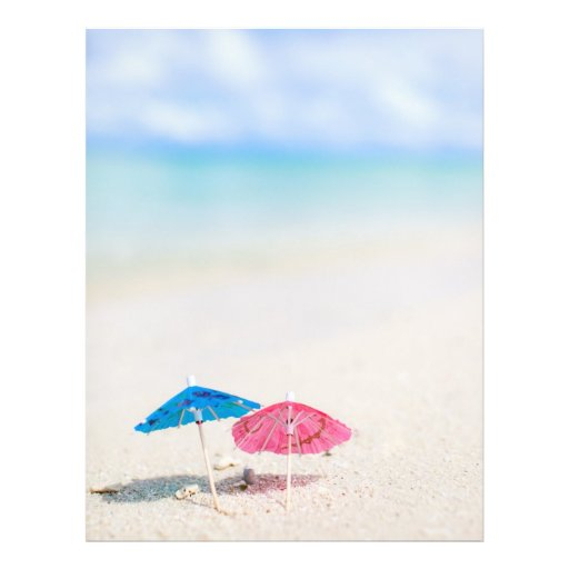 Playa del verano tarjetas informativas