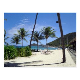 Playa del zafiro, St Thomas, Islas Vírgenes Tarjeta Postal