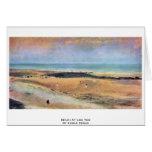 Playa durante la bajamar por Edgar Degas Tarjetón