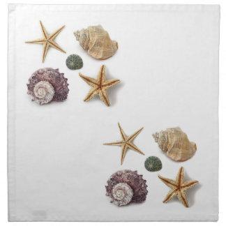 Playa elegante lamentable de los seashells elegant servilletas