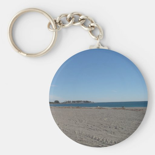 Playa en Almería España Llavero Redondo Tipo Pin