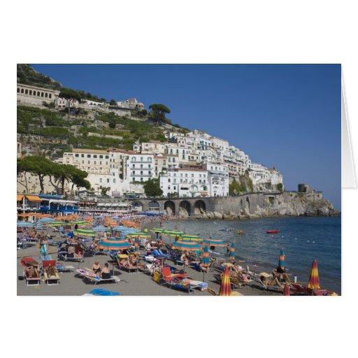 Playa en Amalfi, Campania, Italia Felicitacion