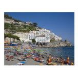 Playa en Amalfi, Campania, Italia Tarjeta Postal