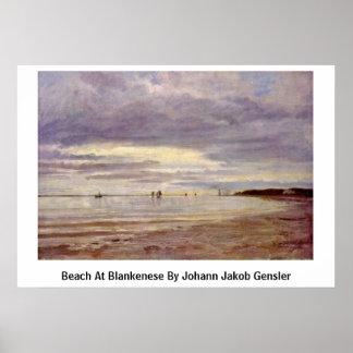 Playa en Blankenese de Juan Jacobo Gensler Impresiones