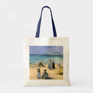 Playa en Boulogne por Manet, impresionismo del Bolsa Tela Barata