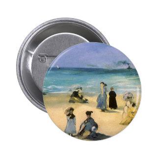 Playa en Boulogne por Manet impresionismo del