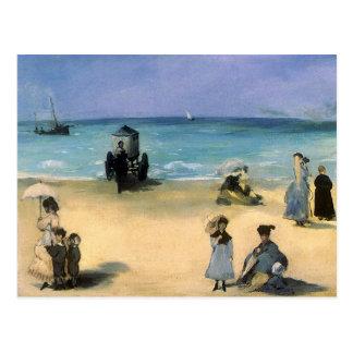 Playa en Boulogne por Manet, impresionismo del Tarjetas Postales