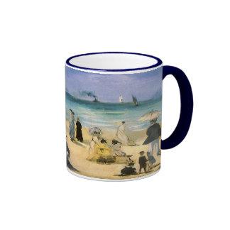Playa en Boulogne por Manet, impresionismo del Tazas De Café
